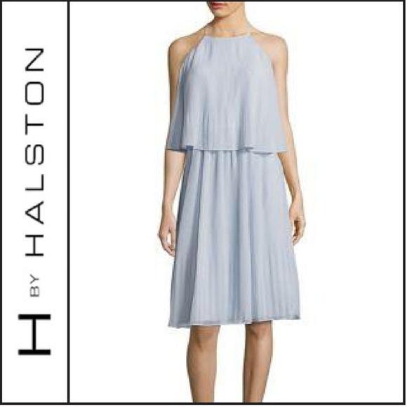 Chiffon halter neck dress h&m